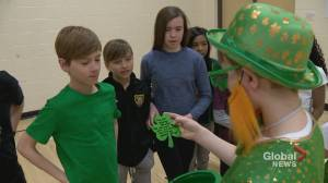'Feels good to be Irish!': Young Calgarians follow in their family footsteps at St. Patrick's Day celebration (01:50)
