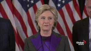 Hillary Clinton 'disappointed' in election outcome, promises to work with President-elect Trump