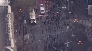 Protesters in San Francisco hit the streets in anti-Trump march