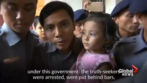 Reuters journalists in Myanmar mark 100 days in jail