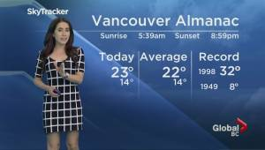 B.C. evening weather forecast: Jul 28