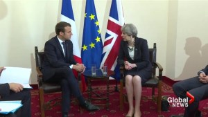 May and Macron discuss fight against terrorism at G7 summit