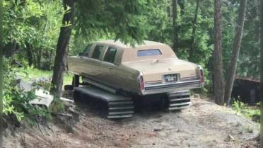 For sale: One made-in-B C  Cadillac turned snowcat  Serious