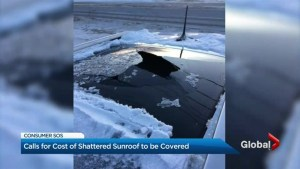 Sunroof explodes, Jeep denies responsibility
