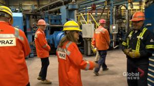Foreign Affairs Minister visits Evraz as steel tariffs lift