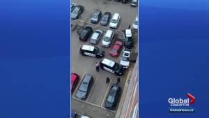 Police takedown in central Edmonton raises questions