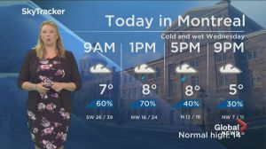 Global News Morning weather forecast: Wednesday April 24, 2019