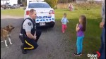 RCMP officer surprises girls after their bikes were stolen