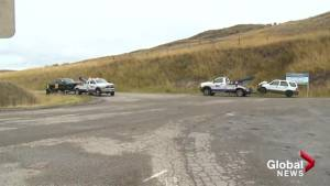 Collision on Highway 97 in Vernon sends two to hospital