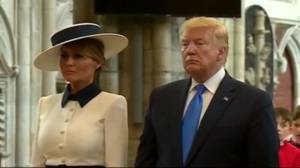 Trump brings controversy, criticism to 1st UK state visit (03:01)
