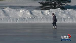 Bitterly cold temperatures don't keep 87-year-old skater off the ice