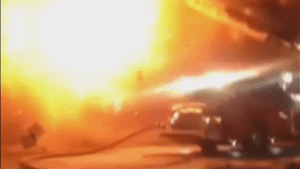 Explosion at Moncton fire caught on camera
