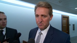 U.S. Senator Jeff Flake expresses concern 'dominos' will fall if Jeff Sessions replaced