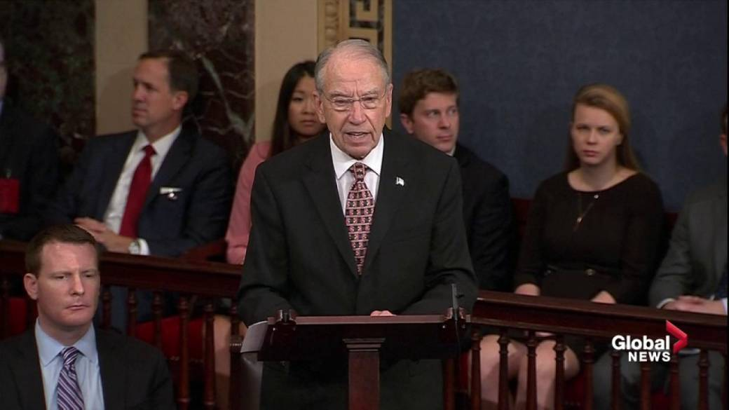 Click to play video ''Beyond the pale': Chuck Grassley accuses Democrats of smear campaign against Brett Kavanaugh'