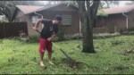 Maritime ball player watches as new home struck by Hurricane Irma