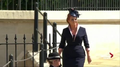 Royal Wedding: Sarah, Duchess of York arrives at Windsor Castle ...