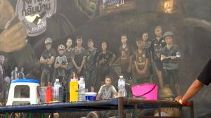 Artist creates mural for Thailand soccer team after cave rescue