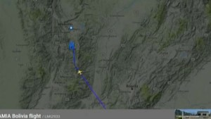 Radar map shows final flight path of plane which crashed in Colombia