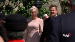 Royal Wedding: Comedian James Corden arrives at Windsor Castle
