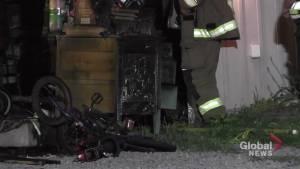 Fire damages garage in Millbrook home