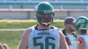 Team before personal goals for Saskatchewan Huskies o-lineman Caleb Eidsvik