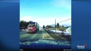 Trucker fined after near head-on collision along Trans-Canada Highway in B.C.