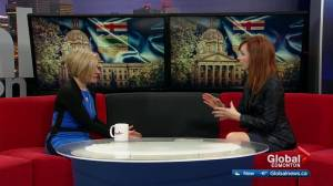 Premier Rachel Notley talks oil, Bighorn parks controversy, upcoming election