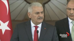 Turkey's PM calls failed coup 'dark stain' on Turkish democracy