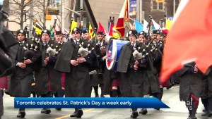 Toronto celebrates St. Patrick's Day a week early