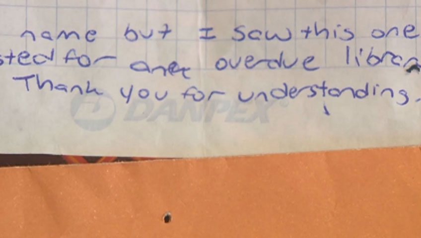 Shoplifter returns stolen book after 2 years with apology note