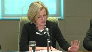 Alberta Premier Rachel Notley hints at economic retaliation towards BC (01:05)