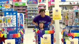 Lethbridge boy gets free three-minute shopping spree