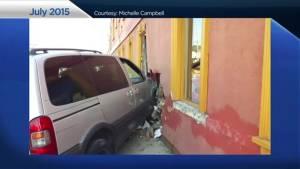 Car plows through Oshawa office