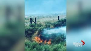 Train passengers witness B.C. fires burning next to rail lines near Ashcroft
