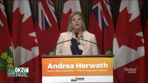 Horwath slams Ford's decision to invoke notwithstanding clause (01:21)