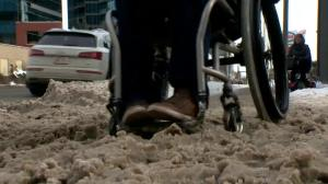 Snowy streets, sidewalks causing difficulties for Calgarians with disabilities