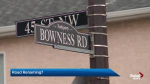 Renaming Bowness road in Montgomery