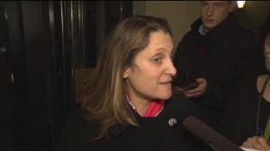 Freeland praises Butts' work on behalf of Canada but 'work goes on'