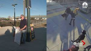 Blind man waits at train station, hoping to find stranger who saved his life