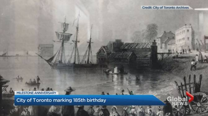 A look back at Toronto's history as the city celebrates its 185th birthday