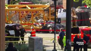 Construction crane collapse in Seattle leaves 4 dead, 3 injured