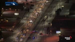 Man killed in collision with semi on Yellowhead Trail (02:44)