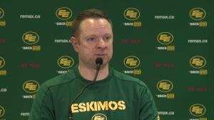 QB Trevor Harris 'not a rah rah guy,' work ethic speaks for itself: Edmonton Eskimos GM