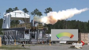 U.S. Navy demonstrates electromagnetic railgun