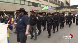 Heated debate over Calgary Pride's decision to exclude uniformed police from 2017 parade