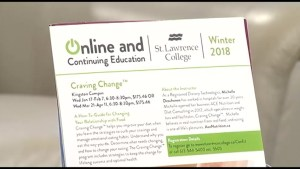 Craving Change, a program offered by St Lawrence College to help with food cravings.