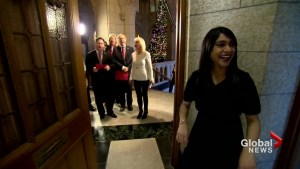 MPs Christmas carol on Parliament Hill