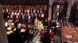 Royal Wedding: Queen Elizabeth greets Princes William and Harry