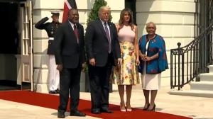President Trump and First Lady welcome Kenya's President Uhuru Kenyatta to the White House