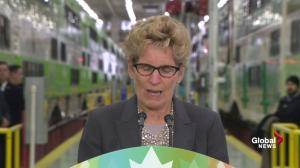 Wynne ups Trudeau's commitment on the fly in humorous exchange